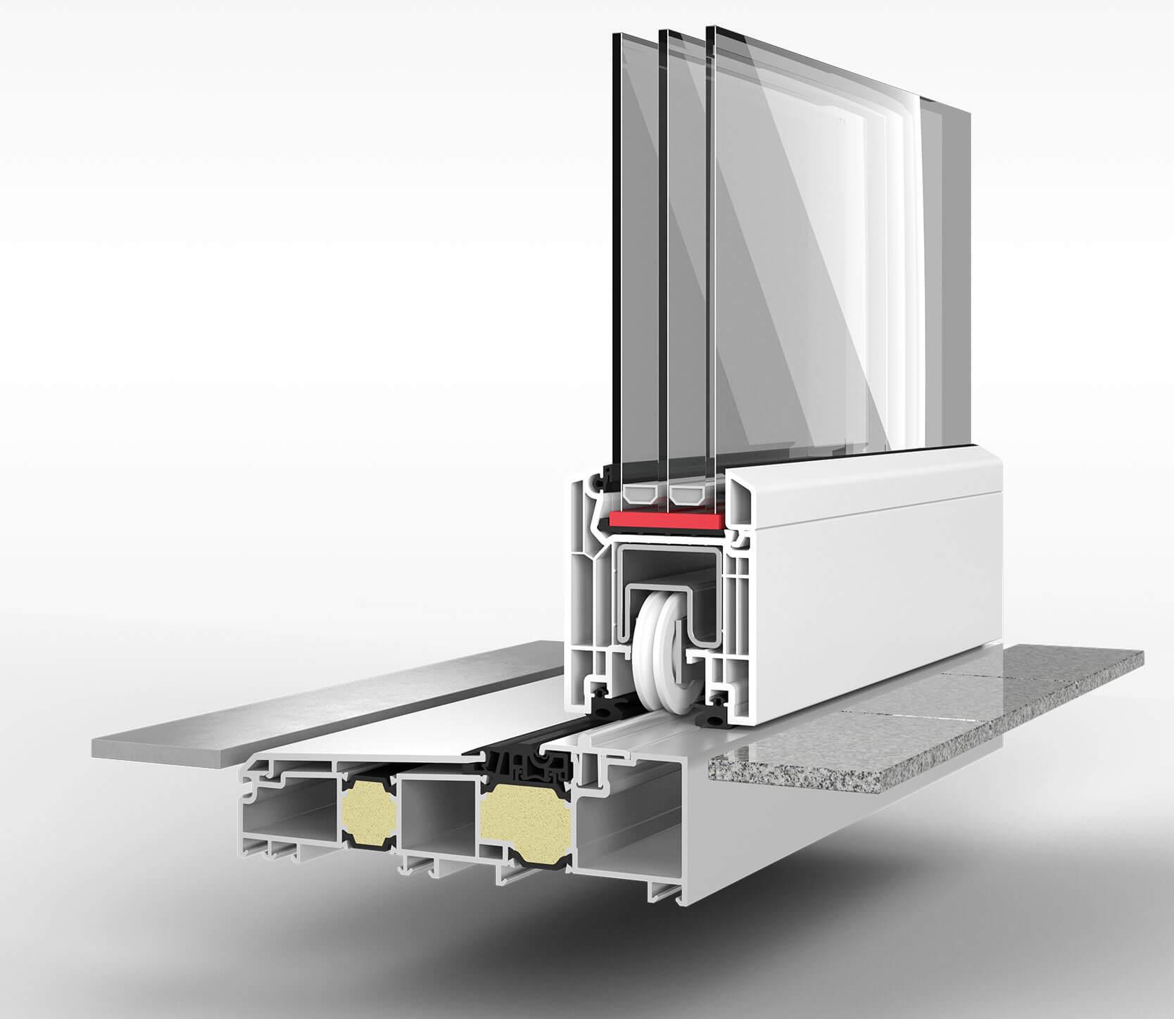 3D Visualisierung Fenster Schnitt